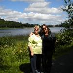 Laura Cronin with daughter Courtney at Lough Lannagh