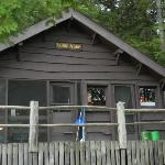 Camp Anne cabin on the inlet of Kiwassa Lake