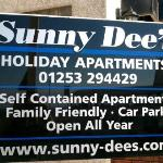 This is sunny dee's sign outside the apartments