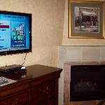 Each Room In Our Suite Had Fireplaces and Large Flat Screen's