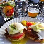  Eggs benny with maple bacon; yum!