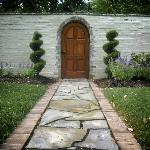  Where does this door lead?  To the magical grounds of Storybook Inn!