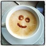  happy cappuccino at Casa del Poggio Solivo