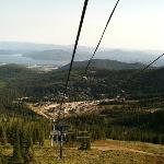  View of the village from chair lift