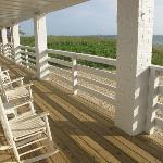 Deck on the second floor - oceanfront.