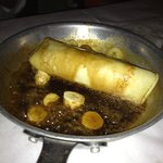Bananas Foster in a crepe. Yummm.