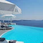 One of a few pools. Beyond this is a stunning view of the sea.