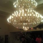  The Front entry a beautiful Chandelier