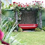 Lovely private garden areas in which to relax