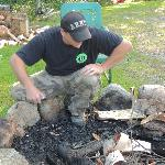 Mike and the fire pit