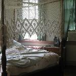 One of the quaint bedrooms