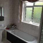 bathroom upstairs, bath and shower