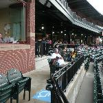Handicapped seating below Press Box - behind home plate
