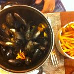 moules et vraies frites !