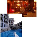 upper pic-lobby, lower pic, the pool