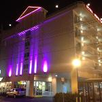 hotel lit up the next night in different color