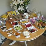 A typical breakfast selection - look at the fresh fruit!