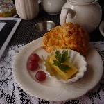 wonderful warm cheese scone