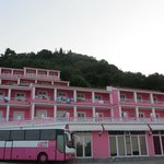 """Corfu Backpackers"" (Really the Pink Palace) Building"