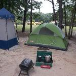 camp site over looking play ground
