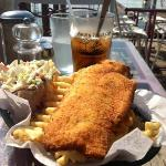Fish & chips al fresco!