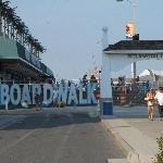 The Entrance to the Boardwalk-within walking distance of the hotel