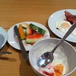 fresh fruit, yoghurt, green tea, bacon and eggs - daily whilst staying at the Thon Tromso