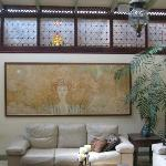  living room of the owner, she is an artist, and creates all the pictures herself with natural cl