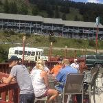  View of Hebgen Lake Mtn Inn from Happy Hour Bar