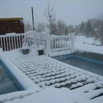 The rooftop tubs in winter!!