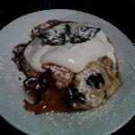 Blueberry/Peach Cobbler w/ fresh cream