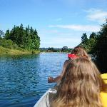 Canoeing up Nanaimo River, canoes & kayaks available to rent