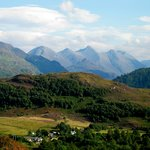 The Five Sisters of Kintail seen on the Skye Tour