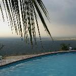 swimming pool, overviewing the savana