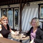 My friend and I were enjoying many tastings on the Gooscross Cellars deck