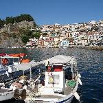  Parga`s pretty seafront from pier