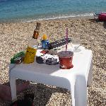  Frappe &amp; Retsina on the beach - perfect day