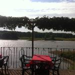  Terrasse mit Blick ber die Elbe