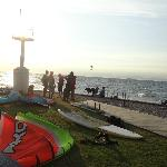 Izola's beach on a windy day