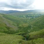 View from top of Cautley Spout towards Cross Keys
