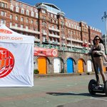 Segways on Brighton Beach