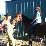  Margo and my daughter with horse named Bint