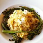  Pasta with broccolini and flowers