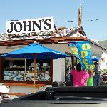 John's Drive-In shortly after opening on a September Saturday.