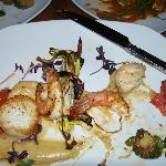 Seared Scallops and Shrimp