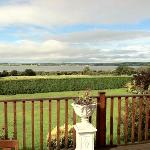 The deck and the view of Tralee Bay at Keanes of Curraheen