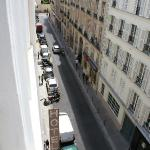 Hotel is on a typical Paris street