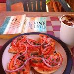 Lox & bagels, and a mocha
