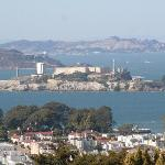 View of Alcatraz from Pacific Heights