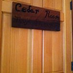 the door of the Cedar room